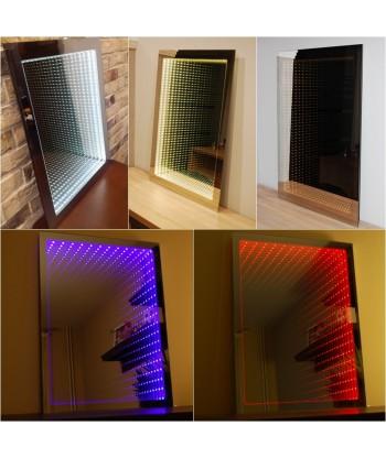 Lustro łazienkowe podświetlane LED 3D (65x50) + efekt głębi