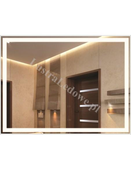 Lustra łazienkowe z podświetlanym wzorem LED
