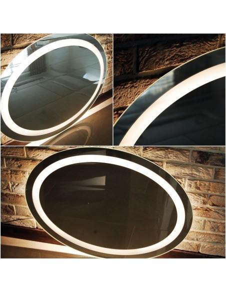 Lustro ledowe okrągłe/owalne z oświetleniem LEDOWYM 85x65