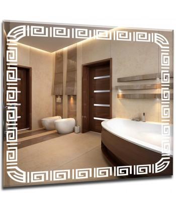 Lustro łazienkowe 55x40 z oświetleniem LED