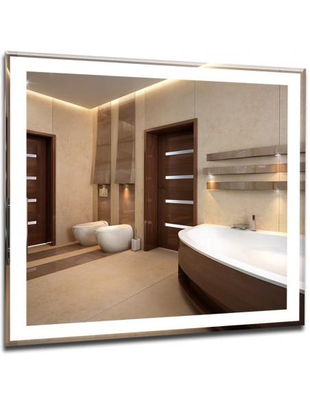 Lustro łazienkowe podświetlane LED