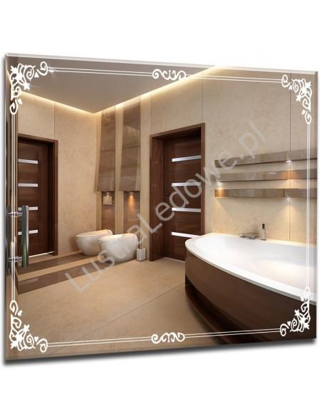 Eleganckie lustra łazienkowe z delikatnej ramie ledowej