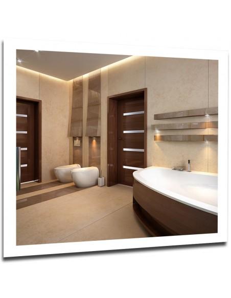 Lustra łazienkowe z podświetlaną ramką LED