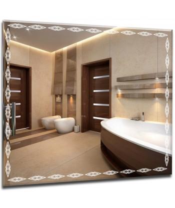 Lustro łazienkowe z oświetleniem LED