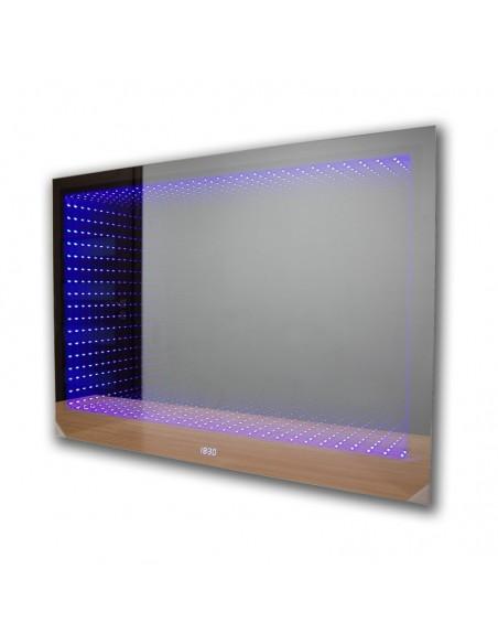 Lustro LEDOWE łazienkowe 3D (80x70) z głębią LED
