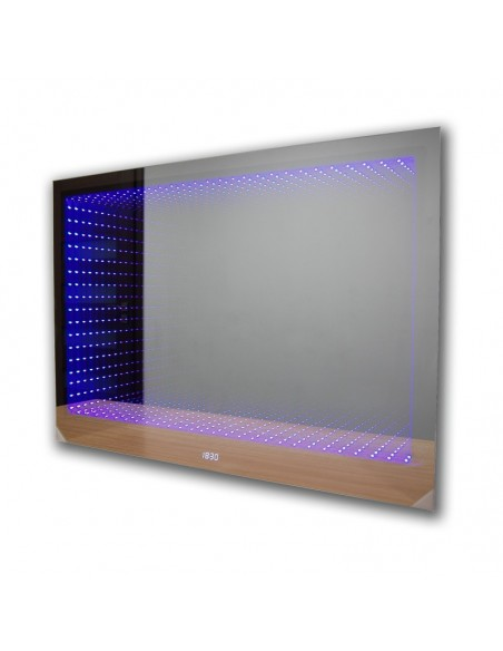 Lustro podświetlane łazienkowe LED 3D (70x55) + efekt głębi