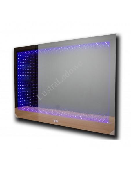 Lustro łazienkowe ozdobne LED 3D (90x70) + efekt głębi
