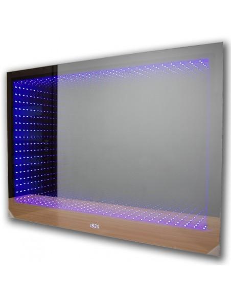 Lustro podświetlane łazienkowe LED 3D (80x50) + efekt głębi