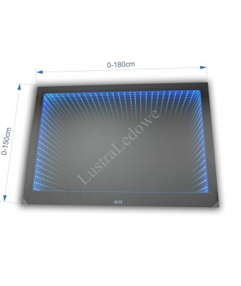 Lustro 3D LED na wymiar - KONFIGURATOR