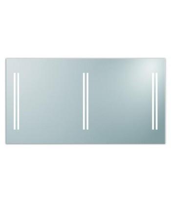 Lustro LED w aluminiowej ramie 140x75