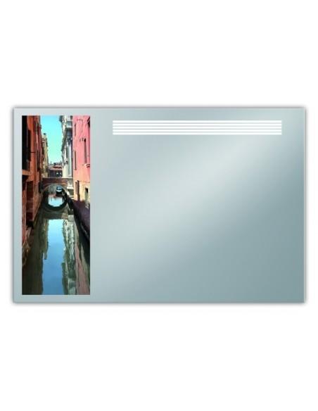 Lustro z nadrukiem Venecji 90x60