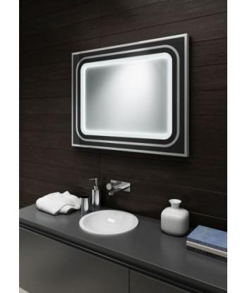 Lustro łazienkowe eleganckiej ramie