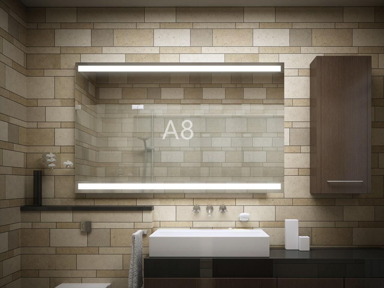 lustro do łazienki podświetlane