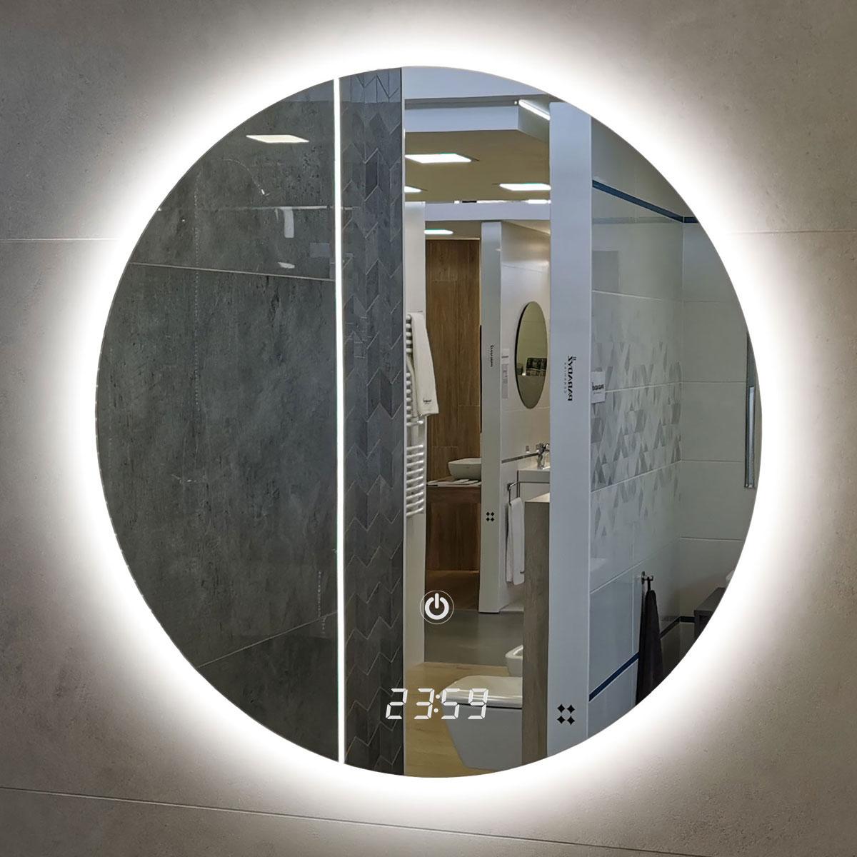 Lustro okrągłe podświetlane